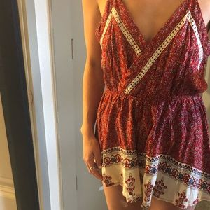 Print Romper with pattern